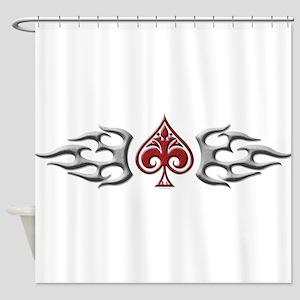 Tribal spade band Shower Curtain