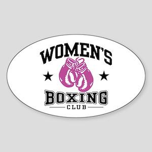 Women's Boxing Oval Sticker