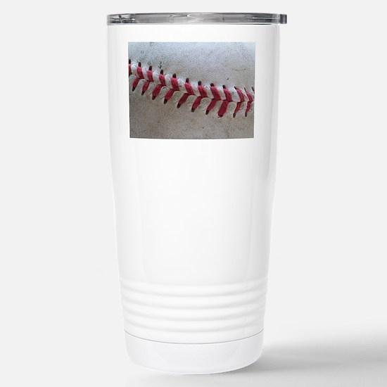 Baseball Stitches Stainless Steel Travel Mug