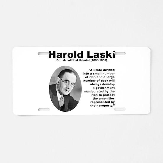 Laski Inequality Aluminum License Plate