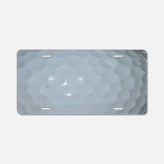 Golf Ball Aluminum License Plate