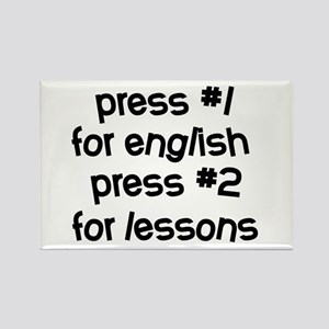 Learn English Rectangle Magnet