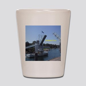 drawbridge in Perkins Cove, Maine Shot Glass