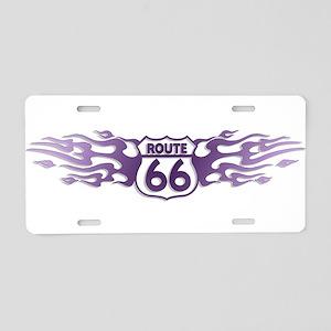 Route 66 (W) Aluminum License Plate