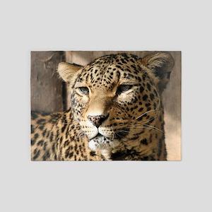 Leopard001 5'x7'Area Rug