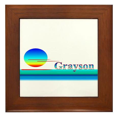 Grayson Framed Tile