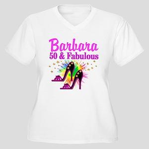 FANTASTIC 50TH Women's Plus Size V-Neck T-Shirt