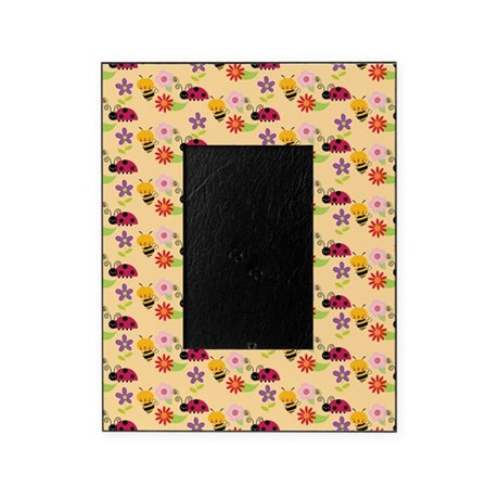 Pretty Flowers Bees And Ladybug Patt Picture Frame By Bimbys8