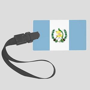 Guatemalan flag Large Luggage Tag