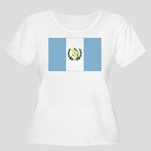 Guatemalan fl Women's Plus Size Scoop Neck T-Shirt