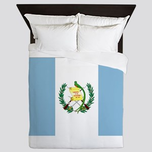 Guatemalan flag Queen Duvet