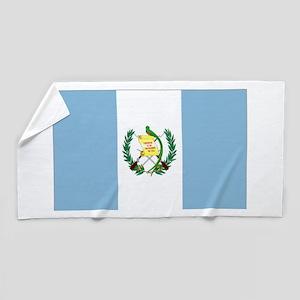 Guatemalan flag Beach Towel