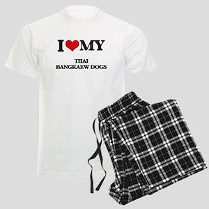 I love my Thai Bangkaew Dogs Men's Light Pajamas