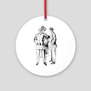 vintage men 1900s Ornament (Round)