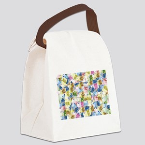rainbow euros money Canvas Lunch Bag