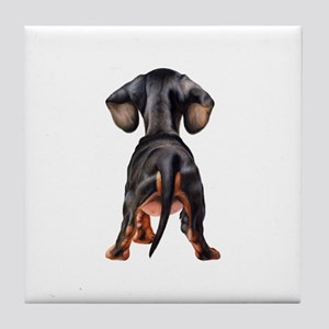 Dachshund Puppy Tile Coaster