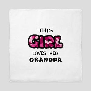 GIRL LOVES GRANDPA Queen Duvet