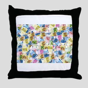 rainbow euros money Throw Pillow
