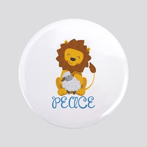 "LION AND LAMB PEACE 3.5"" Button"
