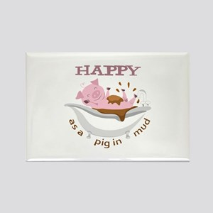 HAPPY AS A PIG IN MUD Magnets