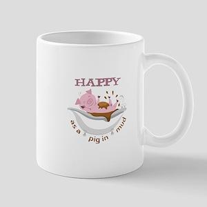 HAPPY AS A PIG IN MUD Mugs
