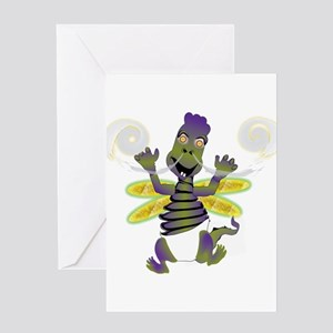 Enter The Baby Dragon- Little Monst Greeting Cards