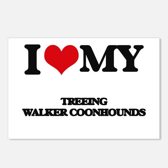 I love my Treeing Walker Postcards (Package of 8)