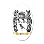 Janca 20x12 Oval Wall Decal