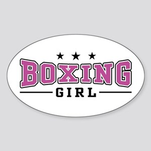 Boxing Girl Oval Sticker
