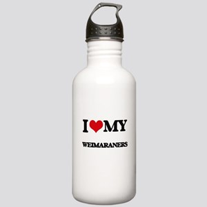 I love my Weimaraners Stainless Water Bottle 1.0L