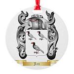 Jan Round Ornament