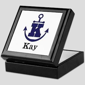 Personalized Anchor Monogram K Keepsake Box