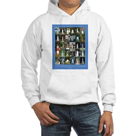 Lake Lighthouses on a Hooded Sweatshirt