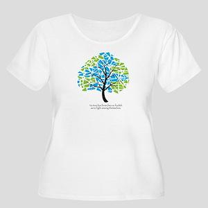 Peace Tree - Scoop Neck Plus Size T-Shirt
