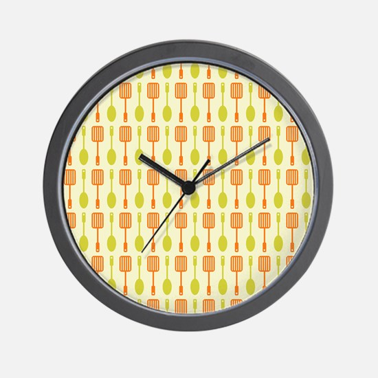 Retro Kitchen Cooking Utensils Wall Clock