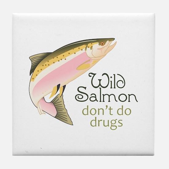 WILD SALMON Tile Coaster
