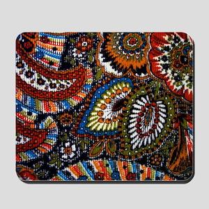 boho vintage paisley print Mousepad