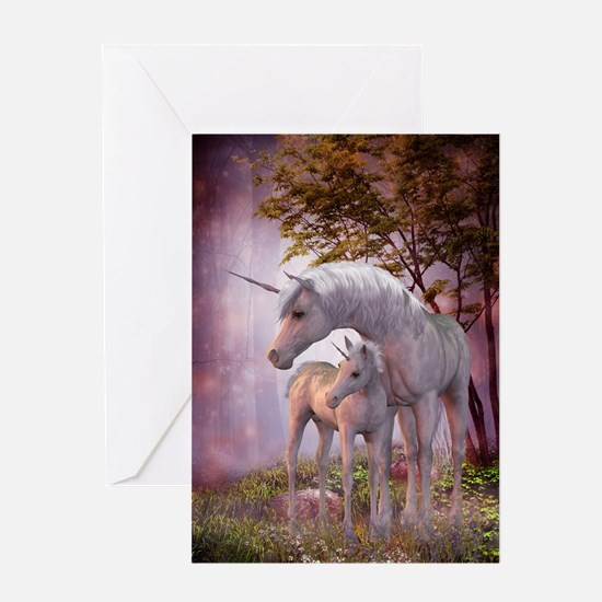 Enchanted Unicorns Greeting Card