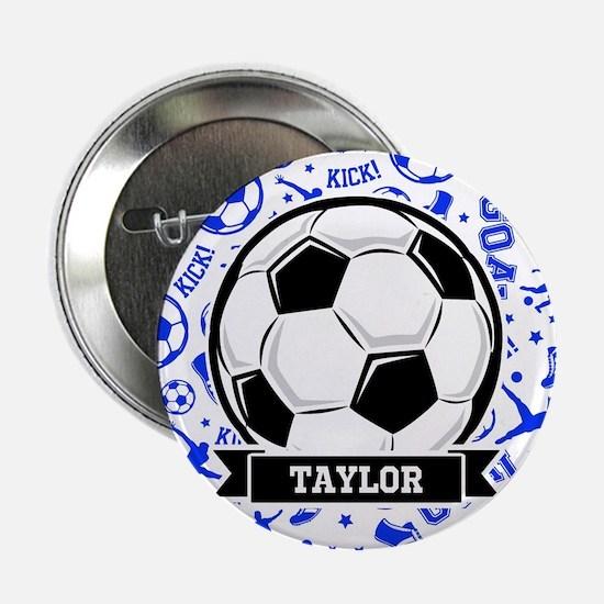 "Blue Soccer 2.25"" Button (10 pack)"