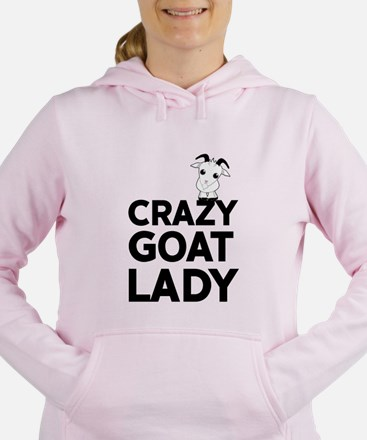 Crazy Goat Lady Women's Hooded Sweatshirt