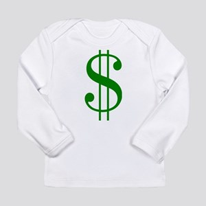 $ green dollar sign Long Sleeve T-Shirt