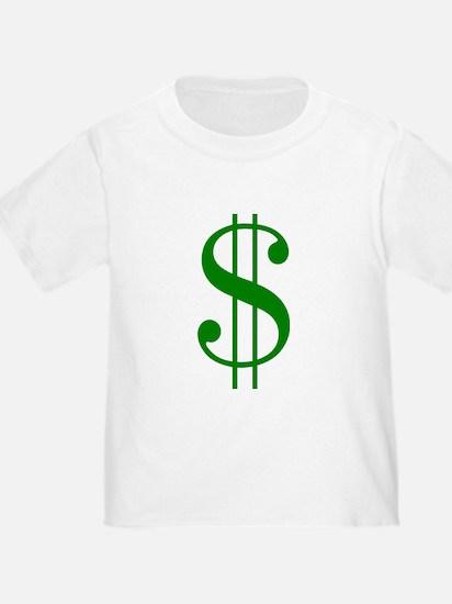 $ green dollar sign T-Shirt
