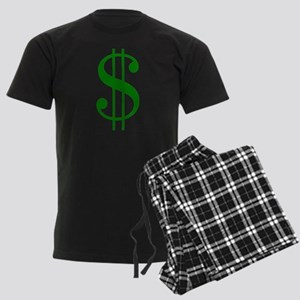 $ green dollar sign Men's Dark Pajamas
