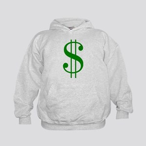 $ green dollar sign Kids Hoodie