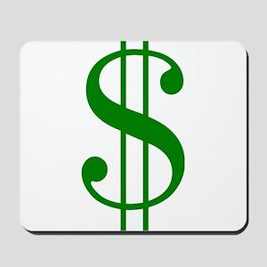 $ green dollar sign Mousepad