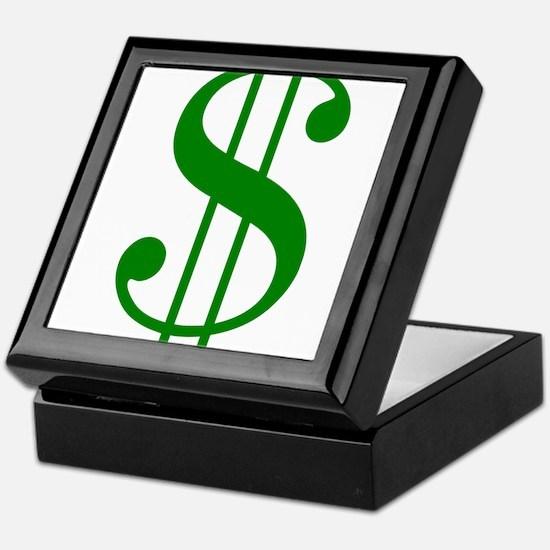 $ green dollar sign Keepsake Box