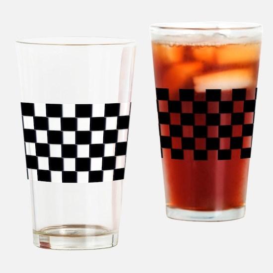 minimalist checkerboard Drinking Glass