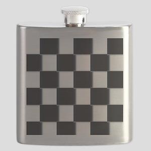 minimalist checkerboard Flask