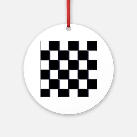 minimalist checkerboard Ornament (Round)