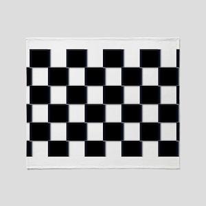 minimalist checkerboard Throw Blanket